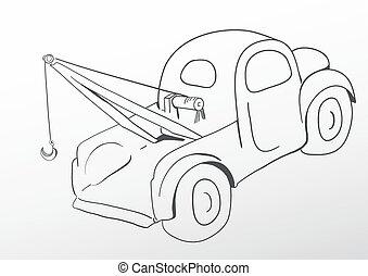 Oldschool tow truck