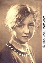OLDTIME PORTRAIT OF WOMAN - A portrait of a woman taken...