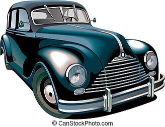 Oldtimer - Detailed vectorial image of black old-fashioned...
