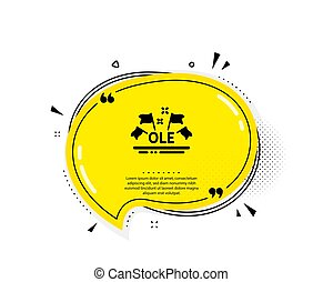 Ole chant icon. Championship with flags sign. Sports event. ...