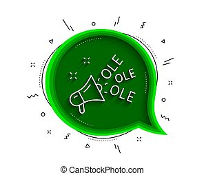 Ole chant line icon. Championship with megaphone sign. ...