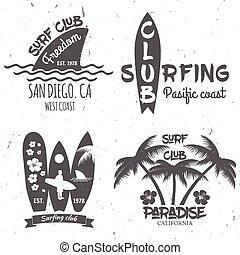oleaje, club, concepto, conjunto