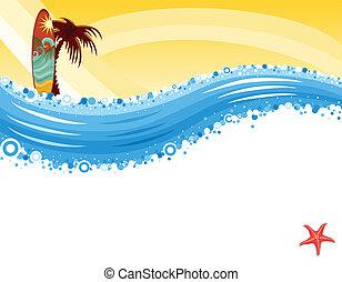 oleaje, playa tropical