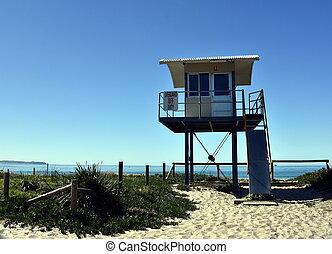 oleaje, puesto de vigilancia, ahorro de vida, blacksmiths, torre, playa