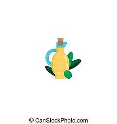 olej z oliwek, rysunek, elementy