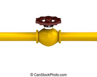 oleoduto, representado, 3d