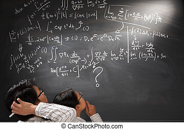 olhar, difícil, complexo, equação