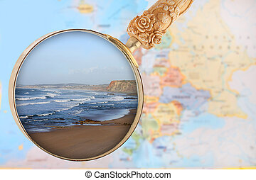 olhar, praia, baleal, portugal