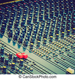 olhar, soundboard, retro