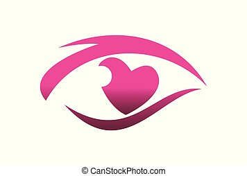 olho, amor, visão, logotipo