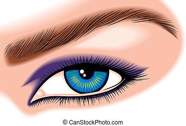 olho, azul