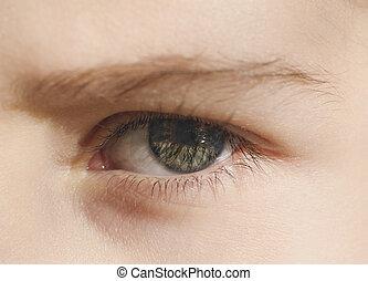 olho, closeup, human