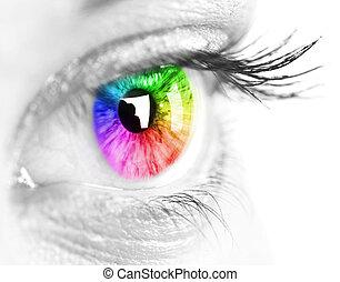 olho, coloridos