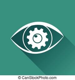 olho, desenho, ícone