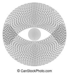 olho, esfera