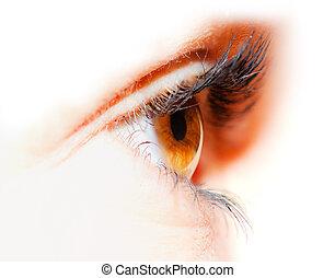 olho feminino, close-up