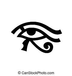 olho, horus, (wadjet)
