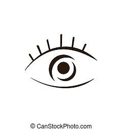 olho, identidade, companhia, marca, vetorial, logotipo, cuidado, desenho