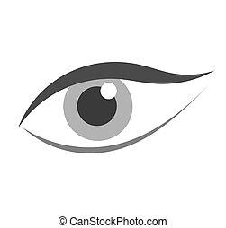 olho mulher, ícone