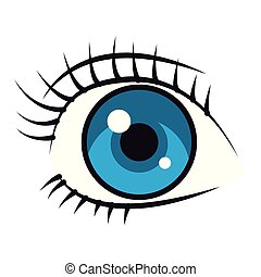 olho mulher, caricatura