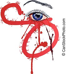 olho, sangue
