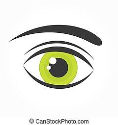 olho verde, ícone