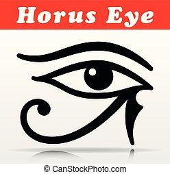 olho, vetorial, desenho, horus, ícone