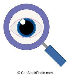 olho vidro, magnificar, human
