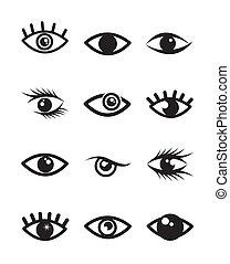 olhos, ícones