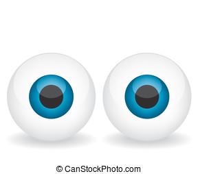 olhos azuis, ilustração
