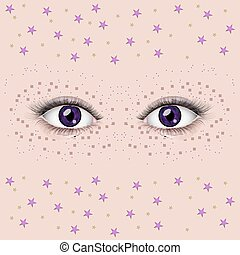 olhos bonitos, femininas
