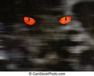 olhos escuros, animal