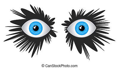 olhos, fashon