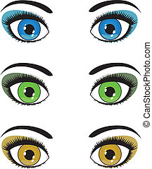 olhos, femininas