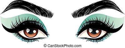 olhos marrons, compor