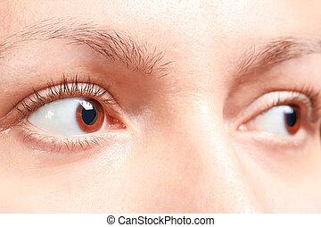 olhos marrons, menina