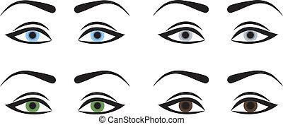 olhos, mulher