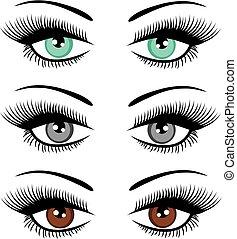 olhos, pestanejo