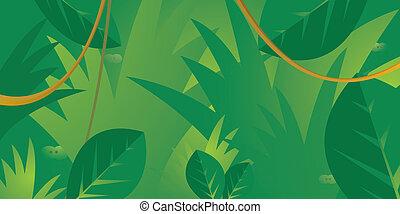 olhos, selva, escondendo