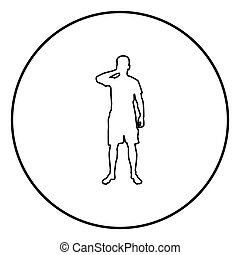 olhos, seu, silueta, cor, ilustração, círculo, homem preto, mãos, frente, encerramento, vista, redondo, ícone