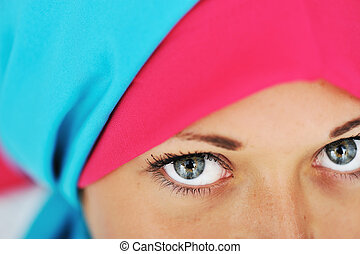 olhos, véu