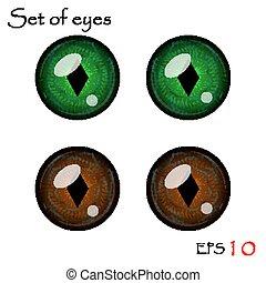 olhos, vetorial, cobrança