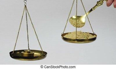 olibanum on a balance