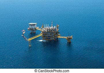 olie gas, udstyre, af, fugl, eye's, udsigter