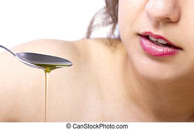olie, het trekken