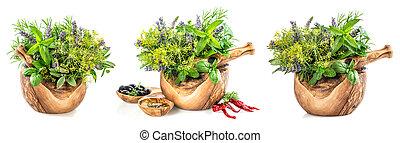olie, ingredienten, gezonde , spieces., keukenkruiden, voedingsmiddelen, olive, fris