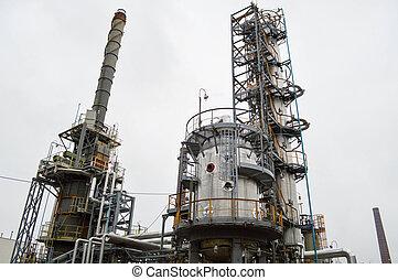 olie, installatie, refining., gas, primair, refinery., chemisch, plant.