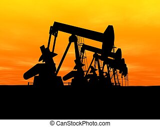 olie pompt op