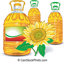 olie, zonnebloem