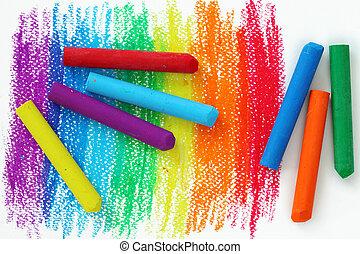 oliepastelkleur, crayons